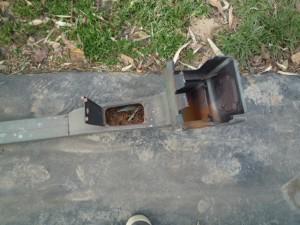 雨樋清掃のための分解