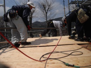 屋根下地補強工事