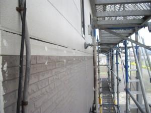 中間幕板撤去後の雨仕舞いと補修