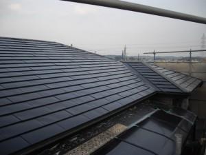 フッ素鋼板屋根途中経過