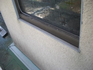窓水切り不良、パッキン不良の発見