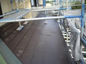 下屋ガルバリウム鋼板カバールーフ