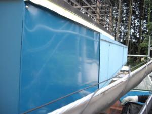 ガルバリウム鋼板カバーリング中