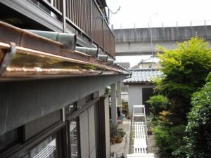 銅板製樋アフター