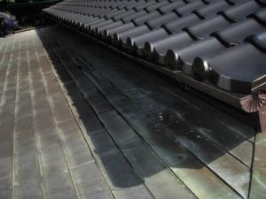 銅板屋根雨漏り