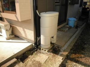 雨水貯留タンクアフター