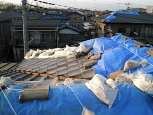 瓦屋根地震被災22