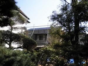 横葺き屋根による葺き替え