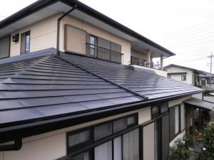 アフターフッ素鋼板屋根