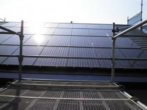 ソーラーパネル復旧後