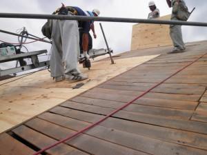 野地板補強工事