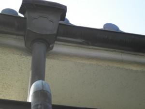 銅板雨樋穴