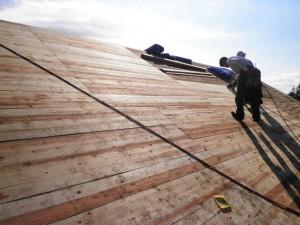 野地板貼り工事