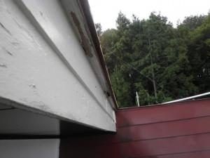 破風部分の雨漏り
