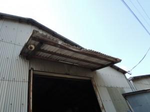 庇屋根スレート改修