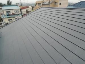 雨の後のガルバリウム鋼板