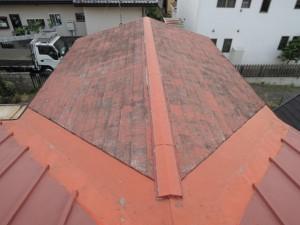 瓦棒屋根との混在