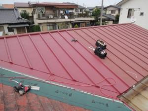 瓦棒屋根部分葺き替え
