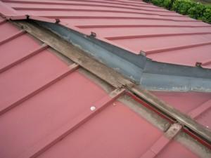 台風被害瓦棒屋根
