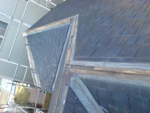 屋根の棟板金、下地の現状