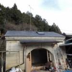 石蔵の屋根替えリフォーム