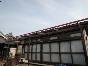 屋根下地鉄骨の交換