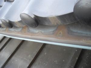 銅板樋の架け替え工事