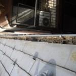 雨樋清掃(竹林側の家)