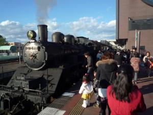 真岡鉄道でSL体験