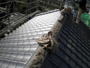 銅板による葺き替え工事(震災後改修工事)