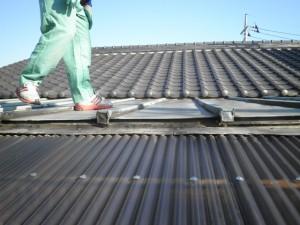 銅板屋根からステンレス屋根へ