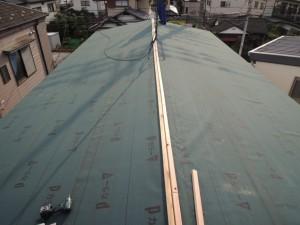 新しい屋根下地の作成工程