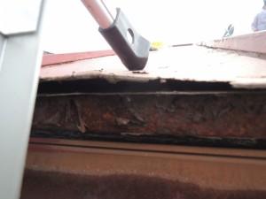 屋根の軒先劣化