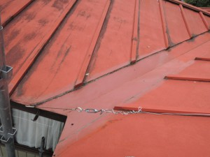 屋根の雨漏り部分