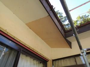 軒裏天井の張替え工事