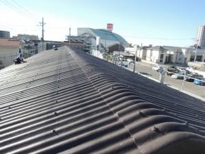 スレート波板屋根