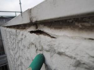 雨漏り修理としての笠木の納まりの改善