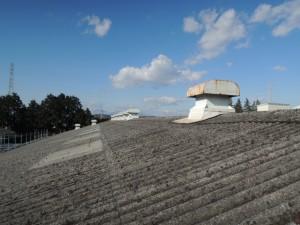 ビフォー。石綿スレート波板屋根
