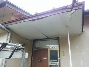 軒裏天井の雨漏り