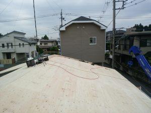 新しい野地板を作る工程