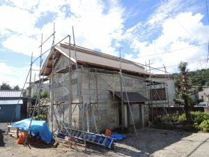 大谷石蔵の屋根替えリフォーム
