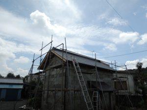 石倉屋根葺き替え