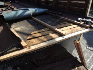 雨漏り修理。下地の補修