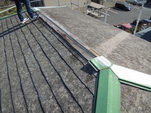 飛ばされた屋根板金