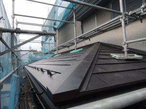 スレート瓦屋根の葺き替え後