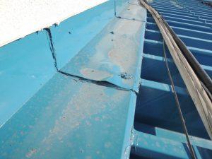 雨漏り修理の跡