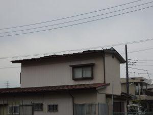 屋根が捲れた