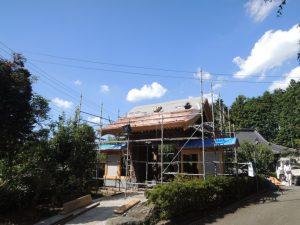 四脚門の銅板屋根工事