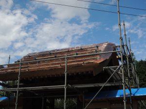 銅板葺き屋根みの甲