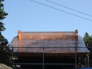 銅板葺き屋根完成